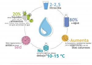 infografía hidratación